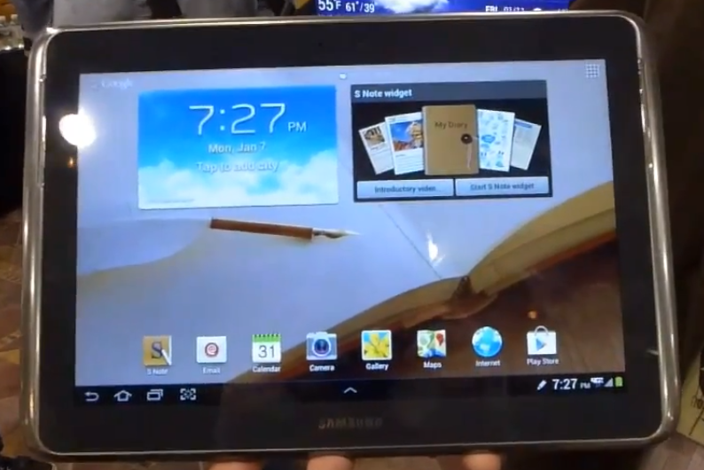 Galaxy Note 10.1 in CES