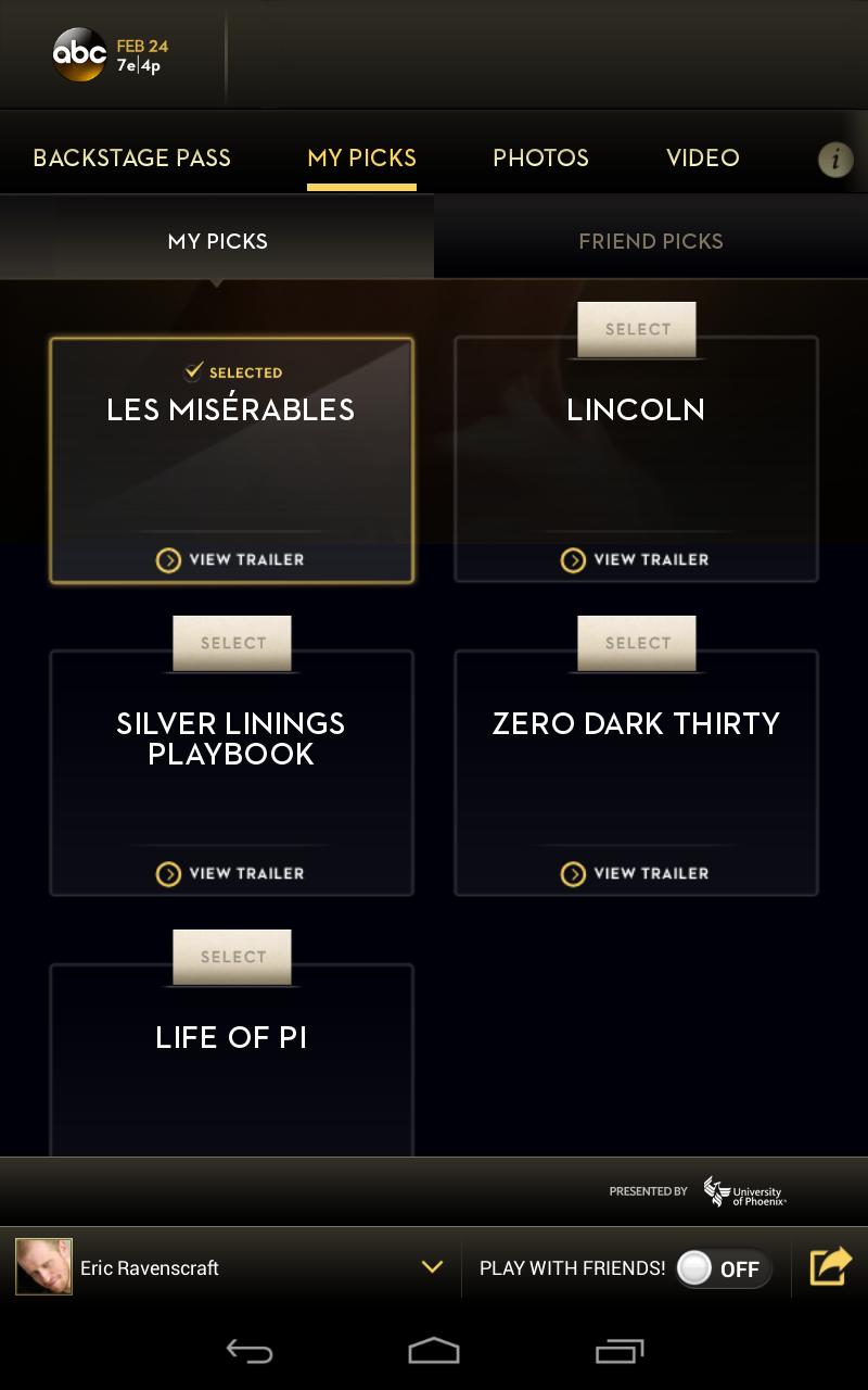 Oscar App Look