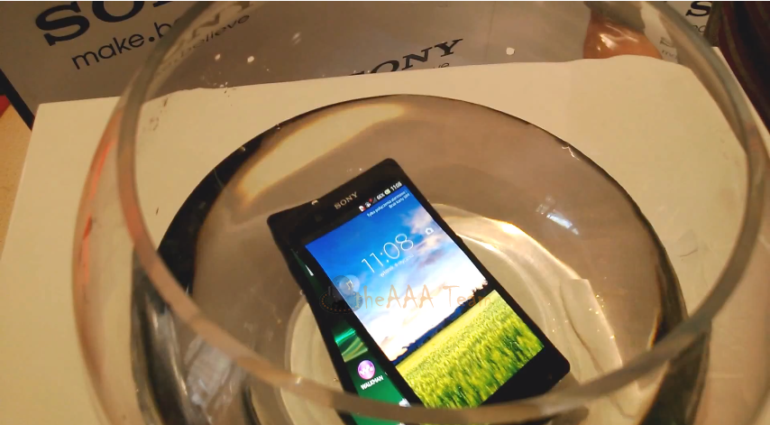 Xperia Z Water Test